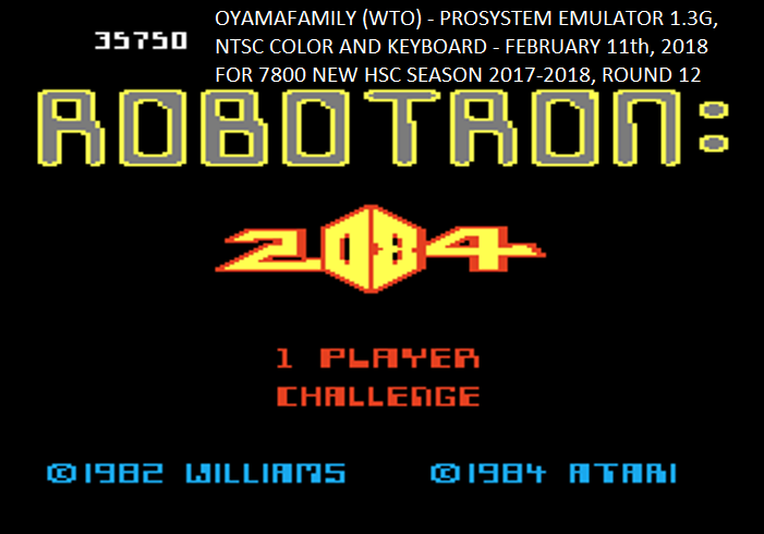 Robotron 2084: Challenge 35,750 points