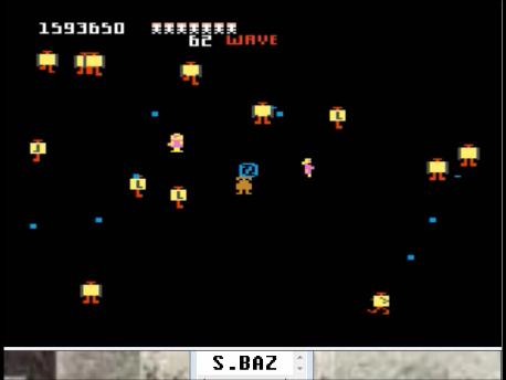 S.BAZ: Robotron 2084: Intermediate (Atari 7800 Emulated) 1,593,650 points on 2016-02-25 03:51:37