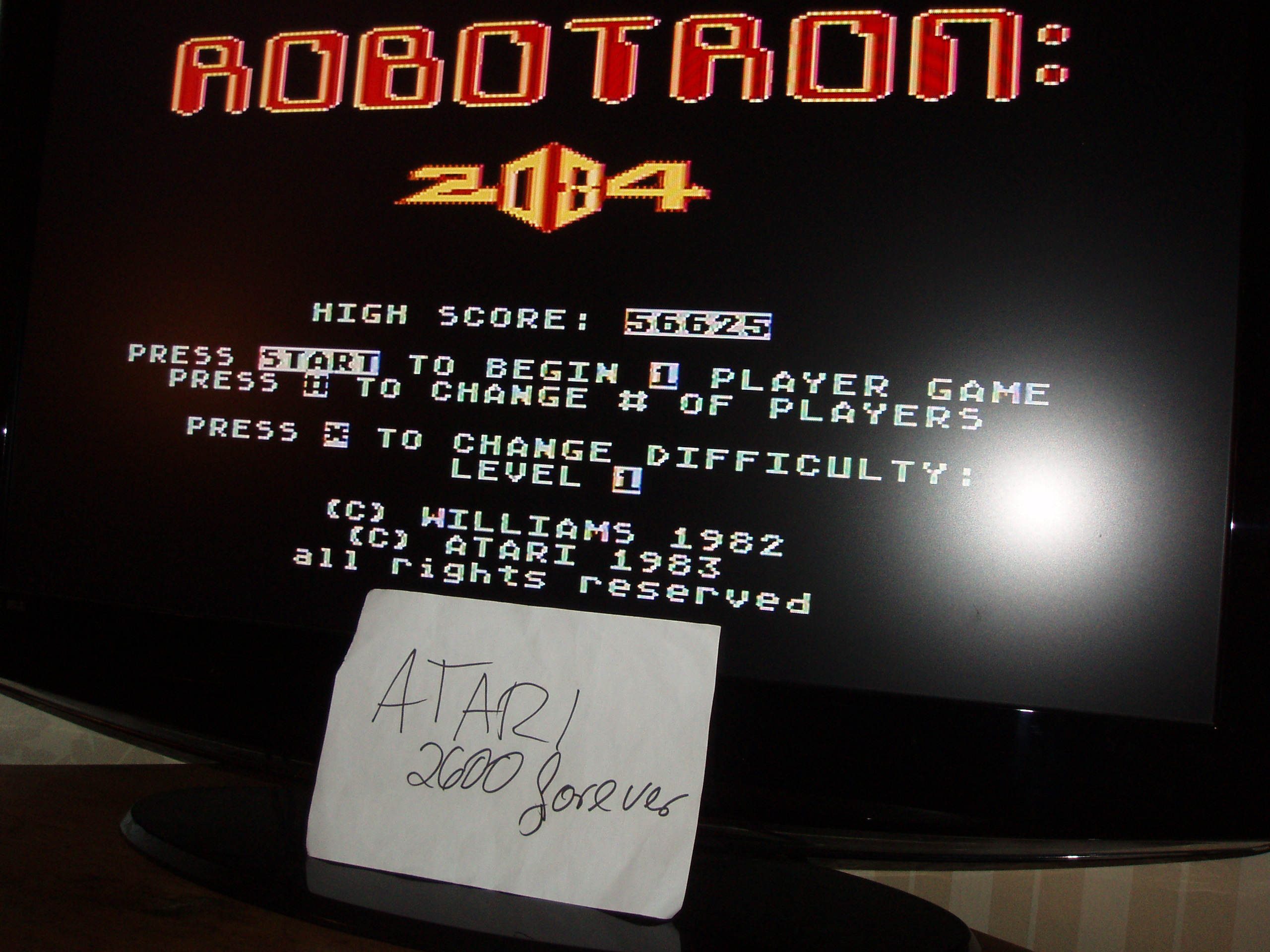 atari2600forever: Robotron 2084: Level 1 (Atari 5200) 56,625 points on 2018-02-01 03:41:26