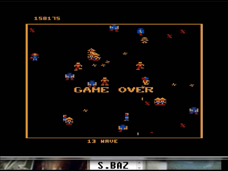 S.BAZ: Robotron 2084: Level 3 (Atari 5200 Emulated) 158,175 points on 2016-03-01 23:43:11
