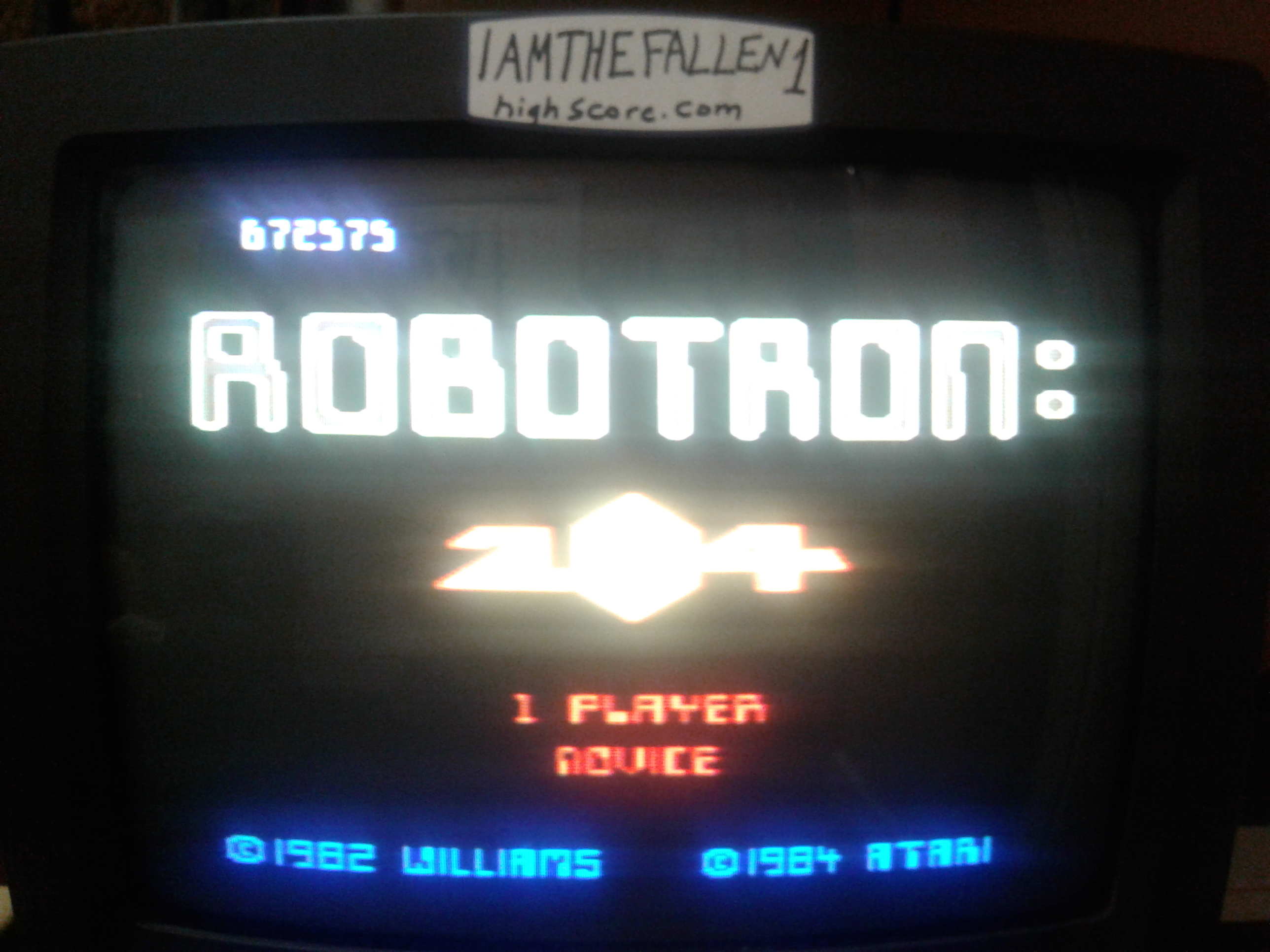 iamthefallen1: Robotron 2084: Novice (Atari 7800) 672,575 points on 2017-11-20 22:43:11