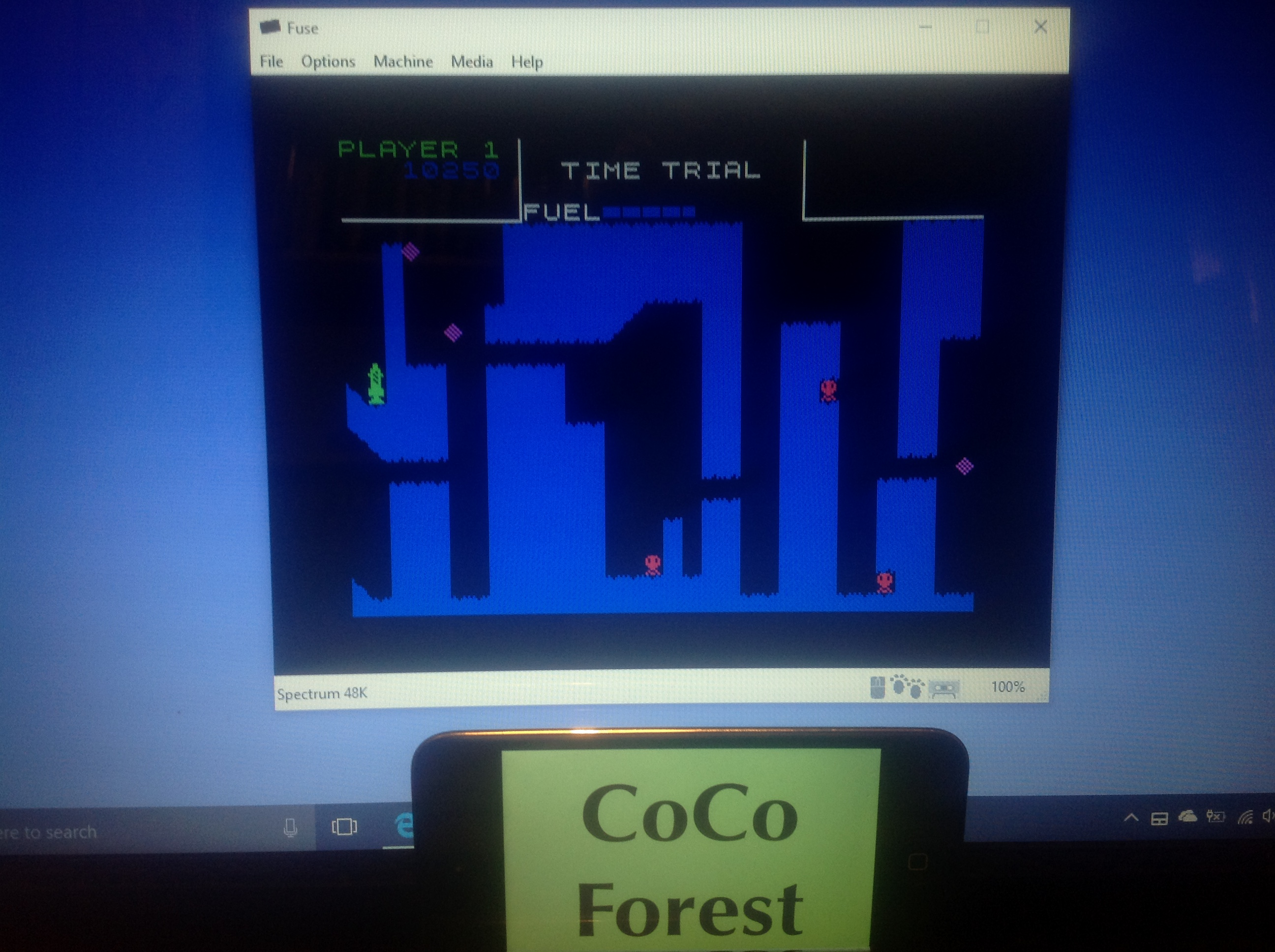 CoCoForest: Rocket Raider (ZX Spectrum Emulated) 10,250 points on 2018-01-16 11:17:33