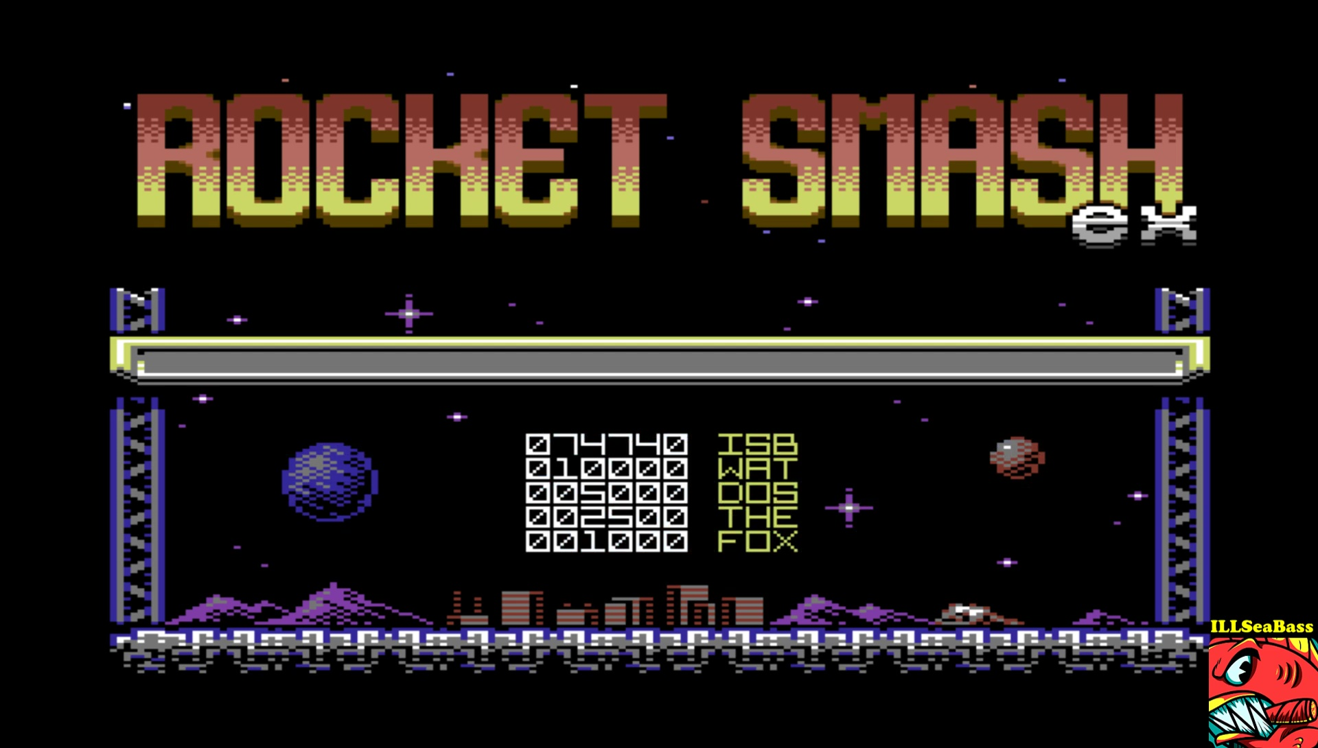 ILLSeaBass: Rocket Smash EX [Loop: Easy] (Commodore 64 Emulated) 74,740 points on 2017-04-15 22:37:18