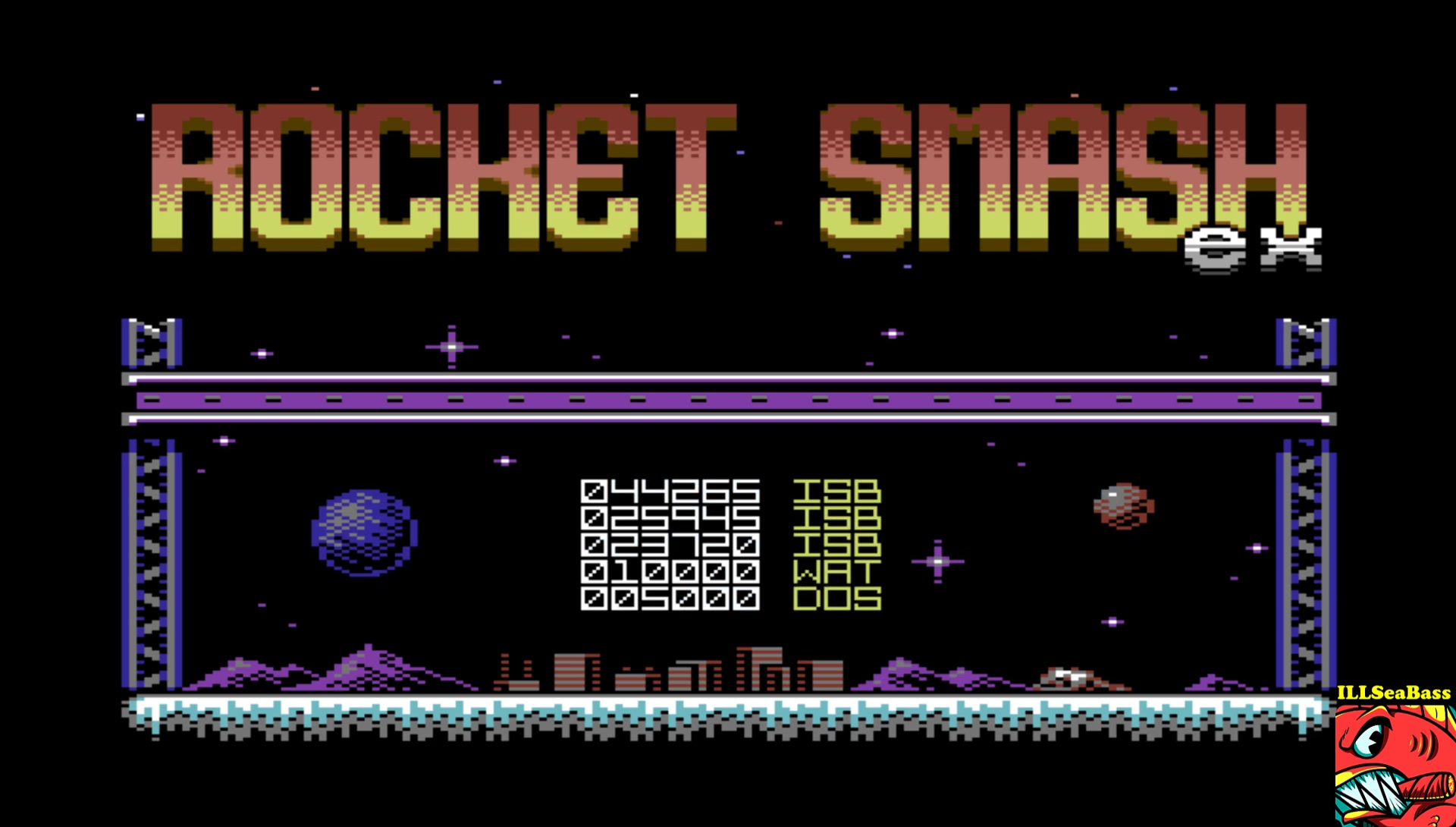 ILLSeaBass: Rocket Smash EX [Loop: Hard] (Commodore 64 Emulated) 44,265 points on 2017-04-16 00:15:30
