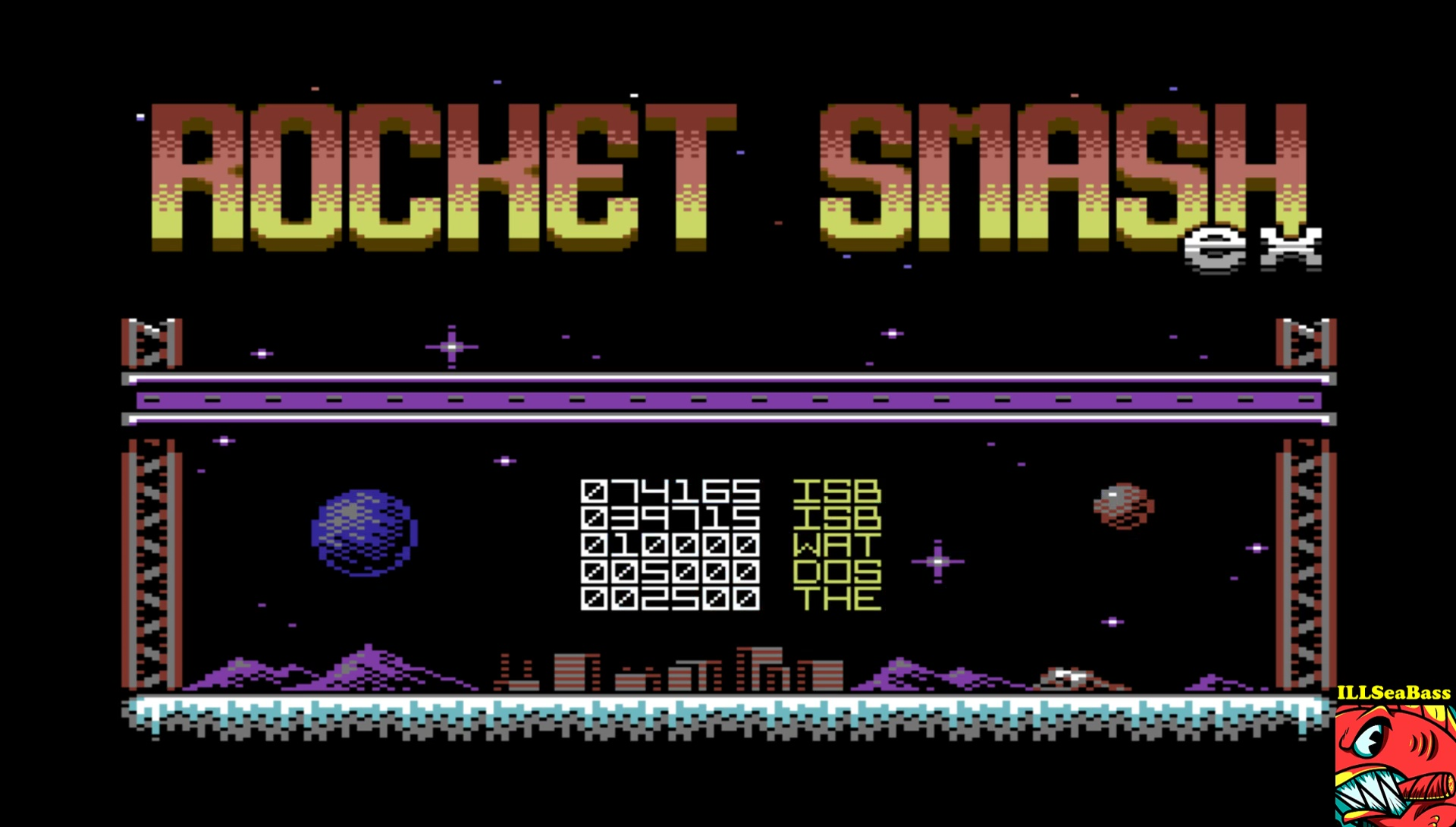ILLSeaBass: Rocket Smash EX [Loop: Normal] (Commodore 64 Emulated) 74,165 points on 2017-04-15 23:41:00