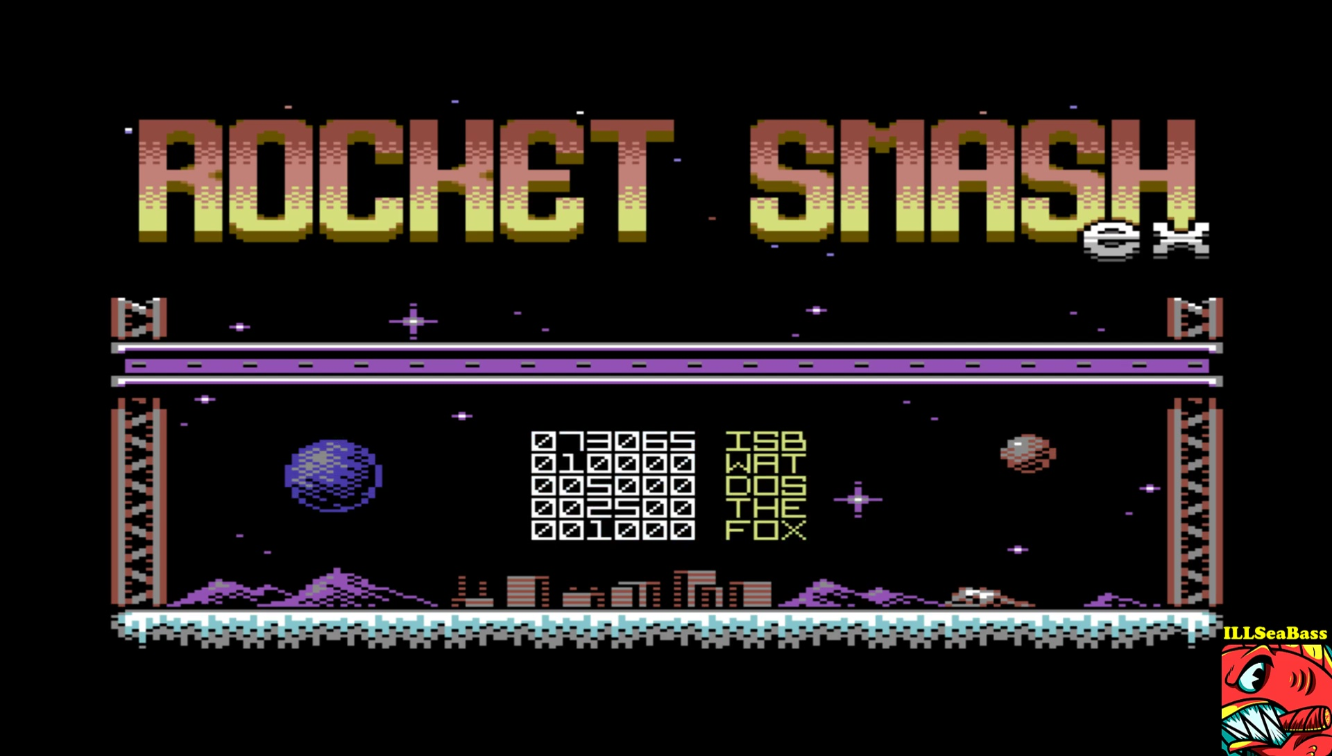 ILLSeaBass: Rocket Smash EX [Story: Normal] (Commodore 64 Emulated) 73,065 points on 2017-04-15 01:15:46