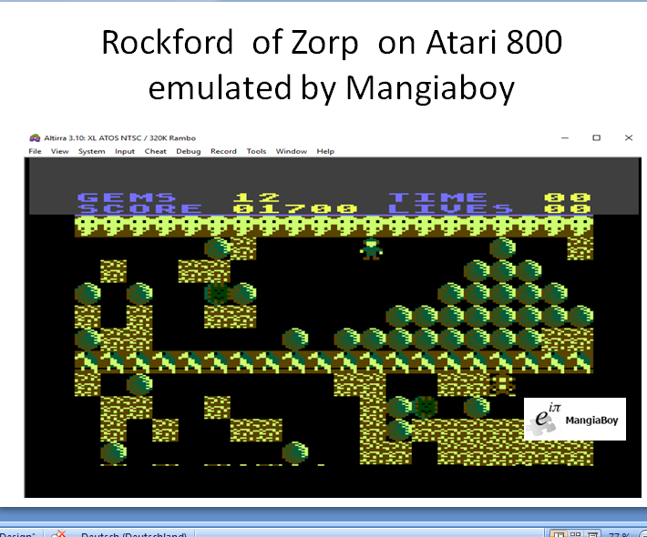 MangiaBoy: Rockford (Atari 400/800/XL/XE Emulated) 1,700 points on 2018-12-26 06:58:33