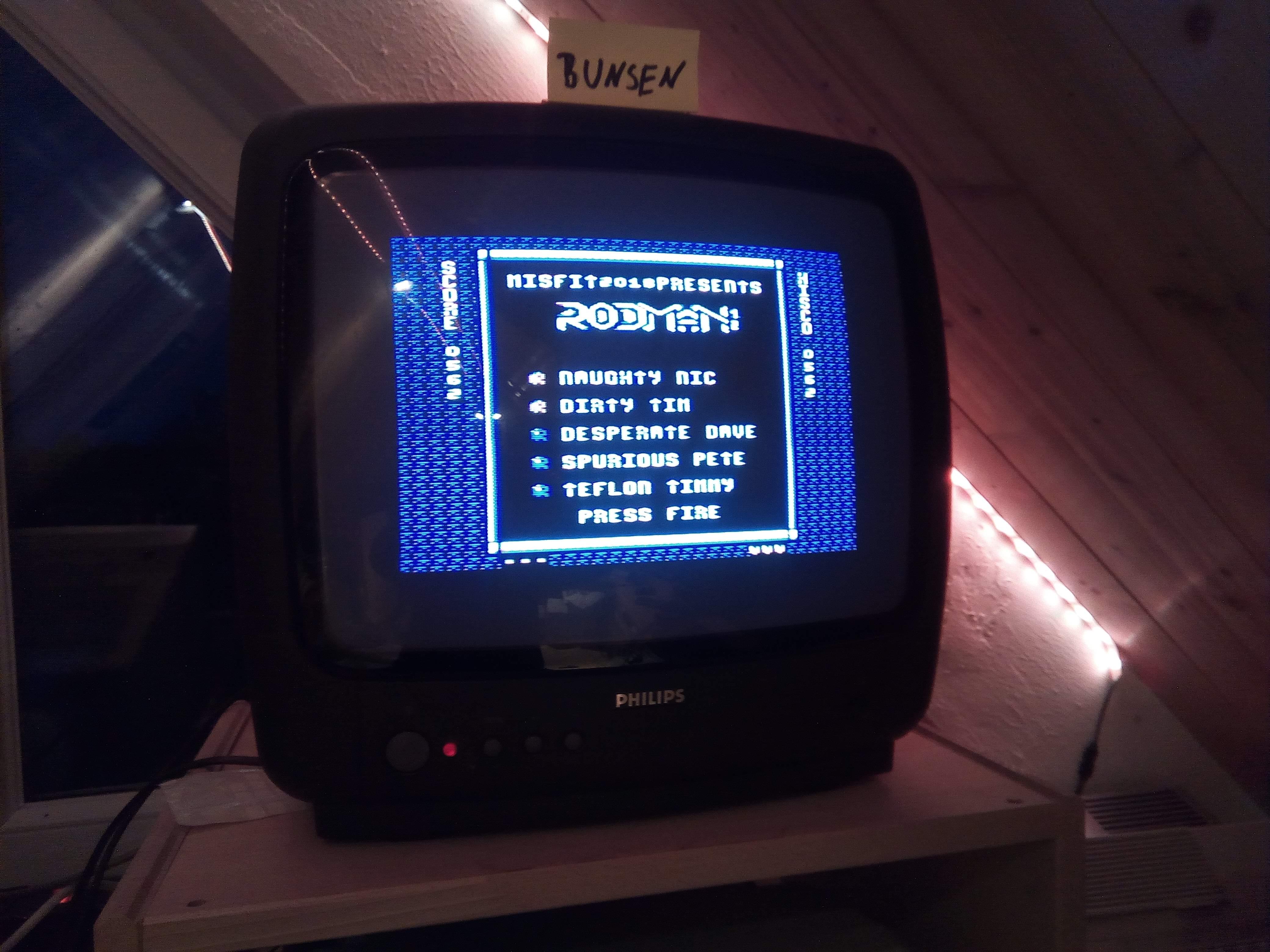 Bunsen: Rodman [LORES] (Atari 400/800/XL/XE) 562 points on 2020-04-25 16:06:52