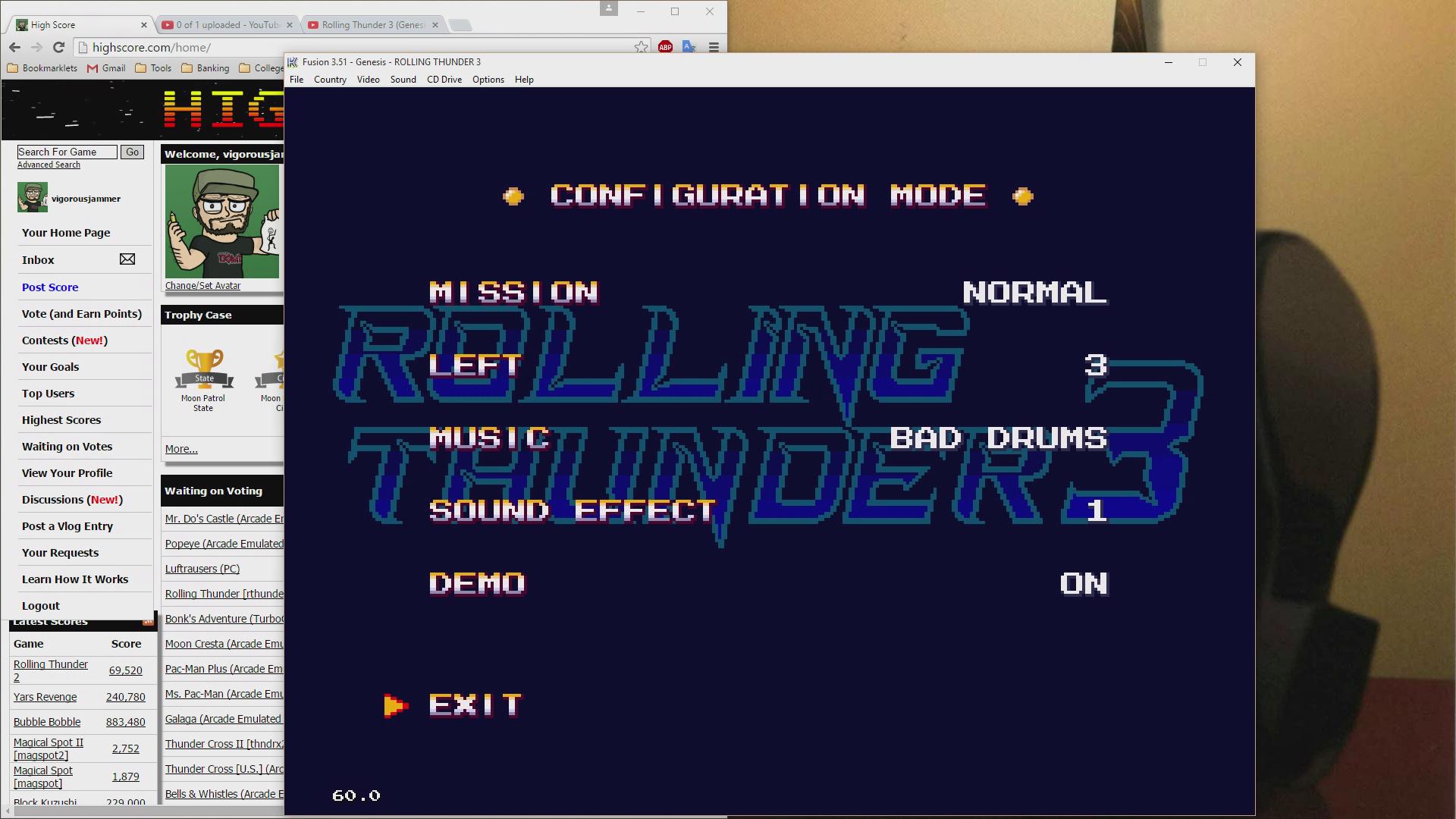 vigorousjammer: Rolling Thunder 3 (Sega Genesis / MegaDrive Emulated) 8,270 points on 2015-08-27 19:35:46