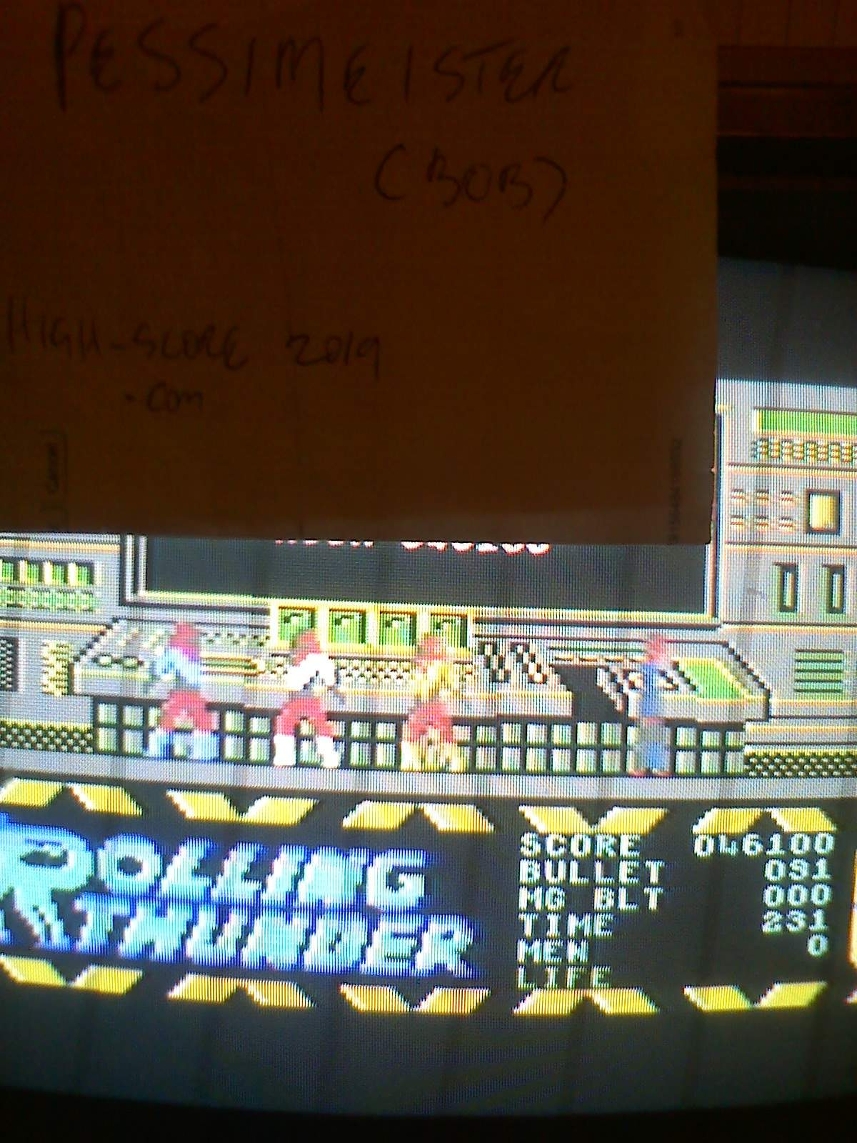 Pessimeister: Rolling Thunder (Commodore 64) 46,100 points on 2019-09-29 04:52:05