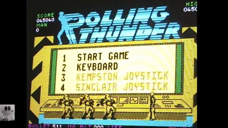 GTibel: Rolling Thunder (ZX Spectrum) 45,040 points on 2017-12-01 14:52:58