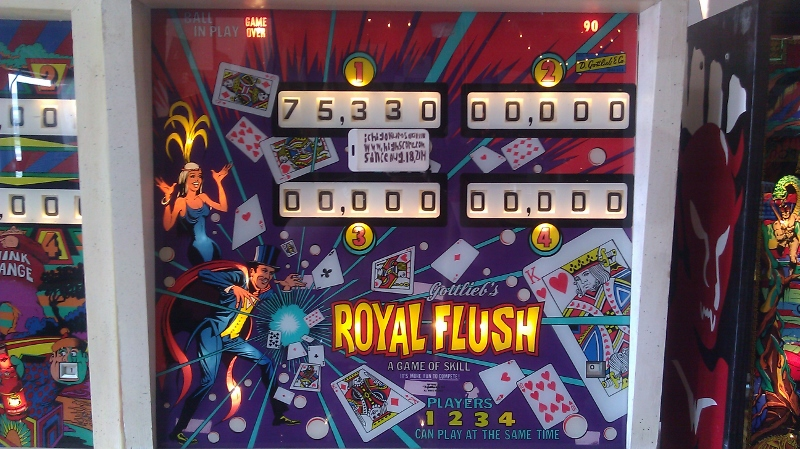 ichigokurosaki1991: Royal Flush [1976 Pinball] (Pinball: 5 Balls) 75,330 points on 2016-04-12 21:09:20