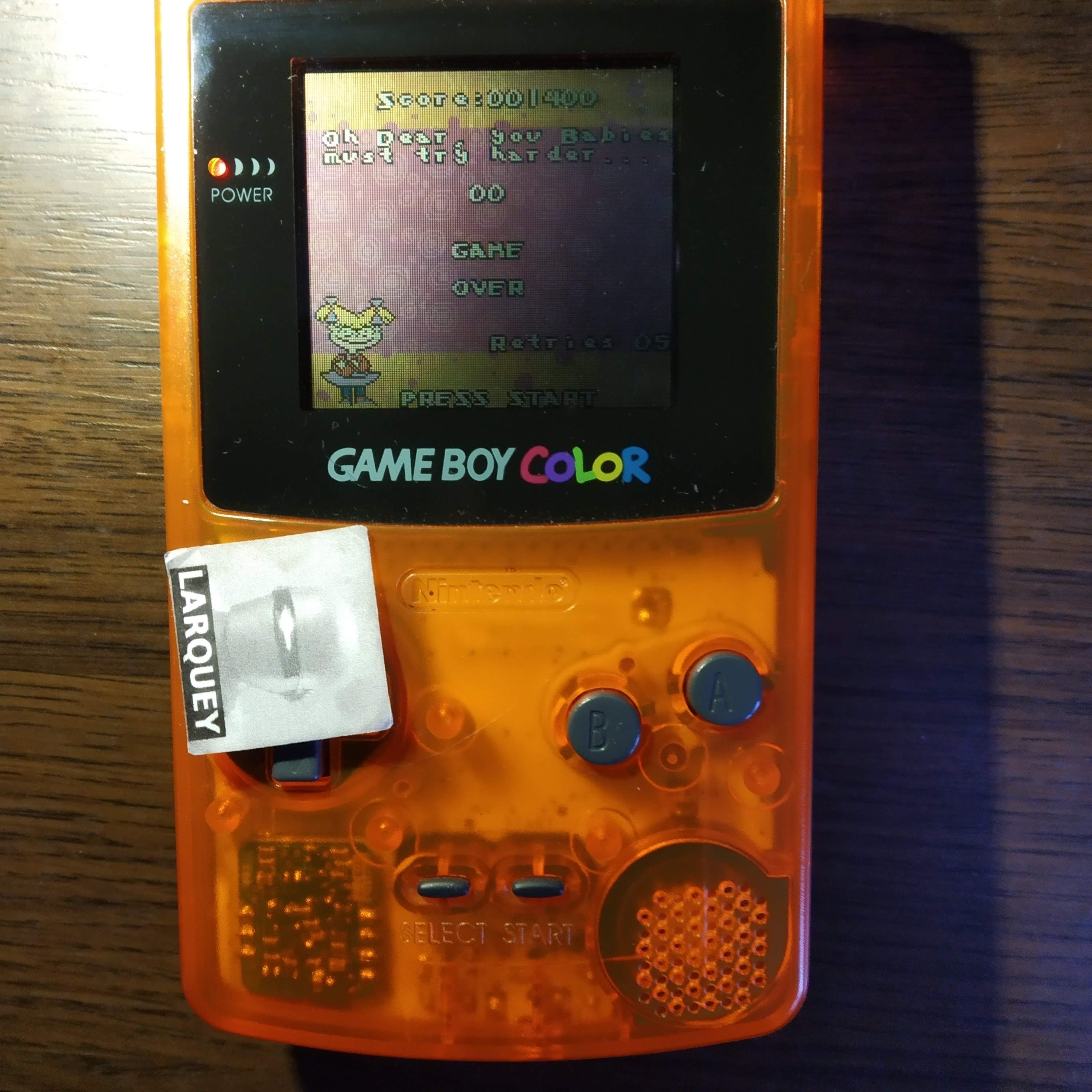 Larquey: Rugrats In Paris: The Movie (Game Boy Color) 1,400 points on 2020-07-21 05:34:07