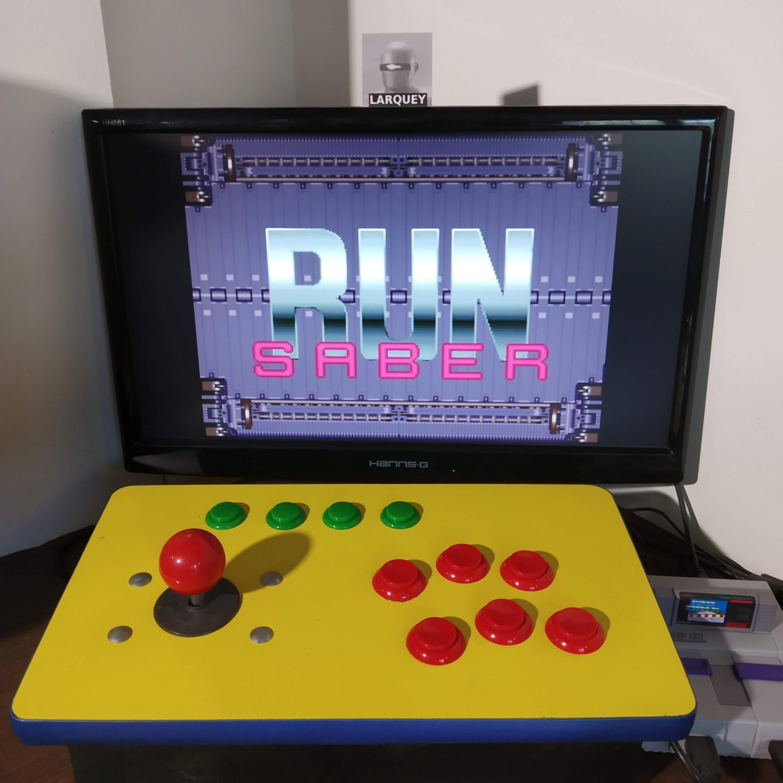 Larquey: Run Saber (SNES/Super Famicom Emulated) 59,900 points on 2020-08-22 06:22:36
