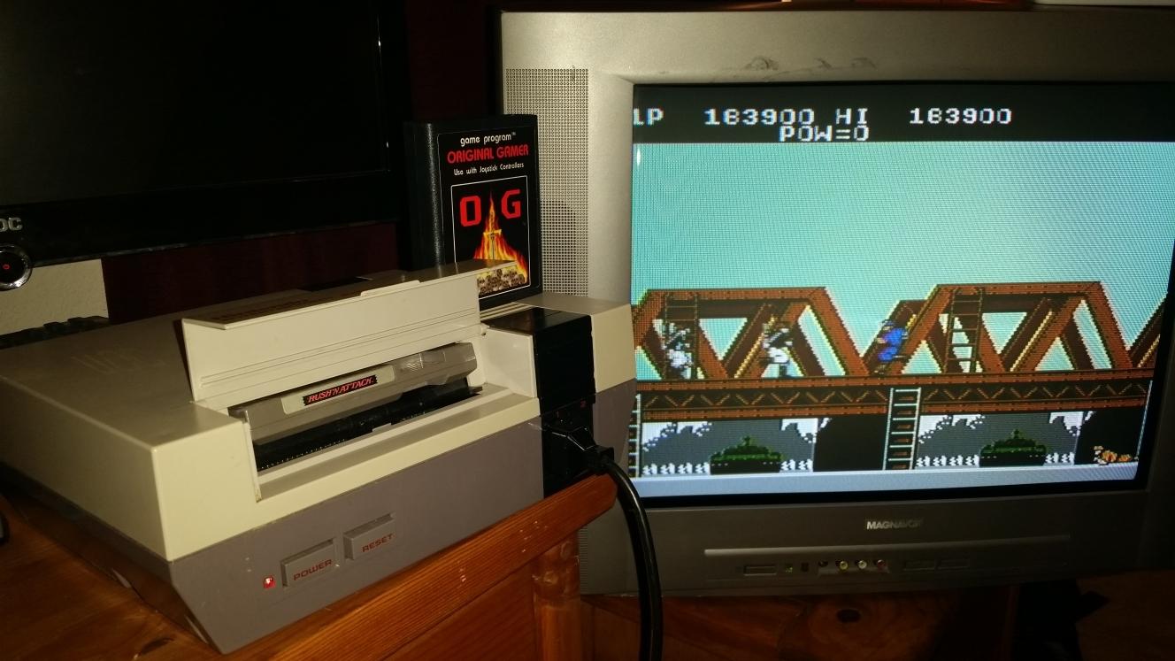 OriginalGamer: Rush N Attack (NES/Famicom) 163,900 points on 2016-07-29 21:50:27