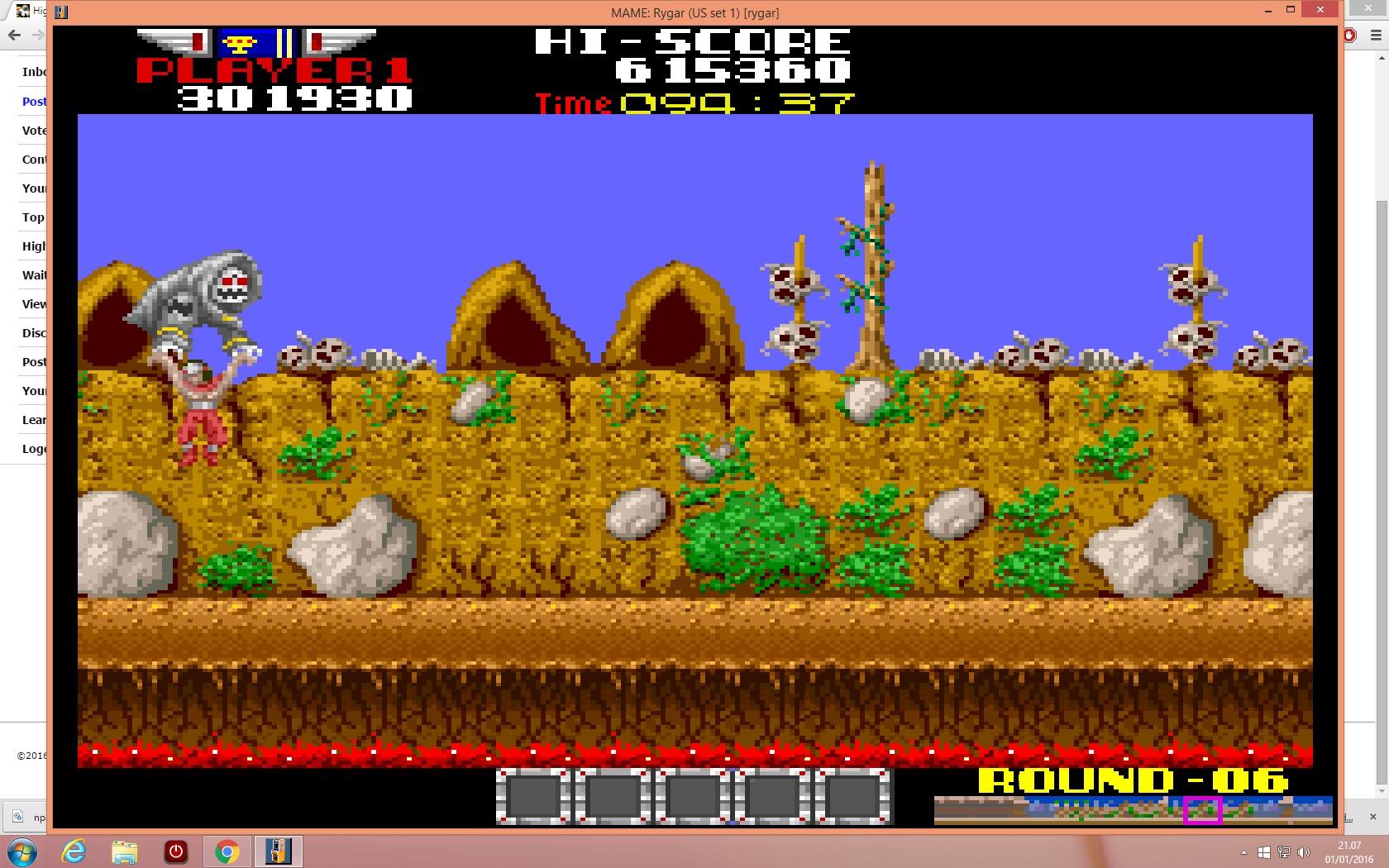 lenny2571: Rygar (Arcade Emulated / M.A.M.E.) 301,930 points on 2016-01-01 14:08:48