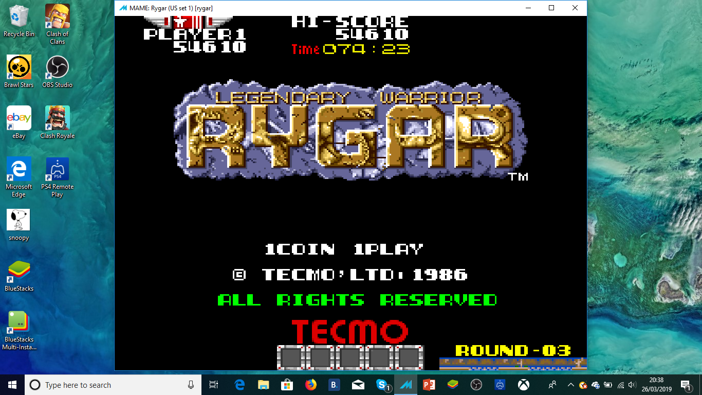 ministorm04: Rygar (Arcade Emulated / M.A.M.E.) 54,610 points on 2019-03-26 16:30:05