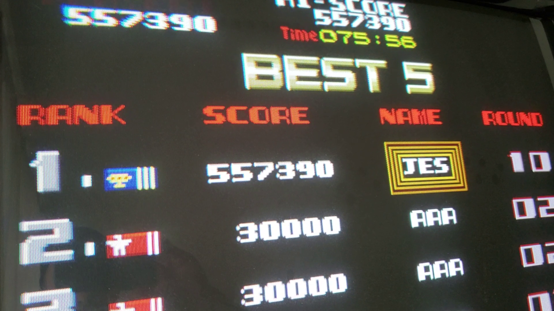 JES: Rygar (Arcade Emulated / M.A.M.E.) 557,390 points on 2019-04-09 19:37:10