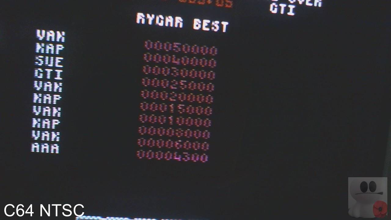 GTibel: Rygar (Commodore 64) 25,000 points on 2020-03-18 06:24:45
