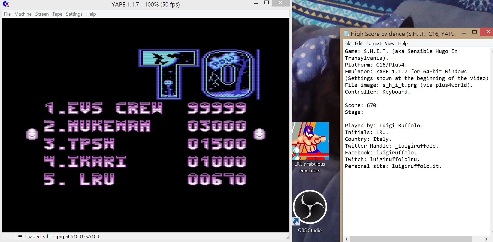 LuigiRuffolo: S.H.I.T. (Commodore 16/Plus4 Emulated) 670 points on 2020-08-04 08:56:29