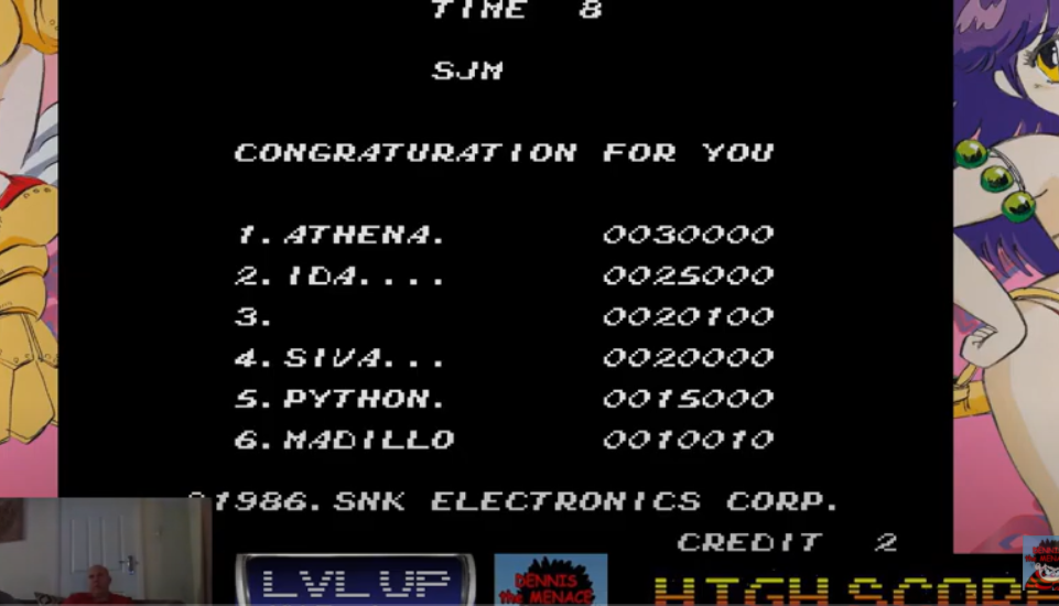 DtM2000: SNK 40th Anniversary Collection: Athena [Arcade] (Nintendo Switch) 20,100 points on 2021-02-08 12:01:47