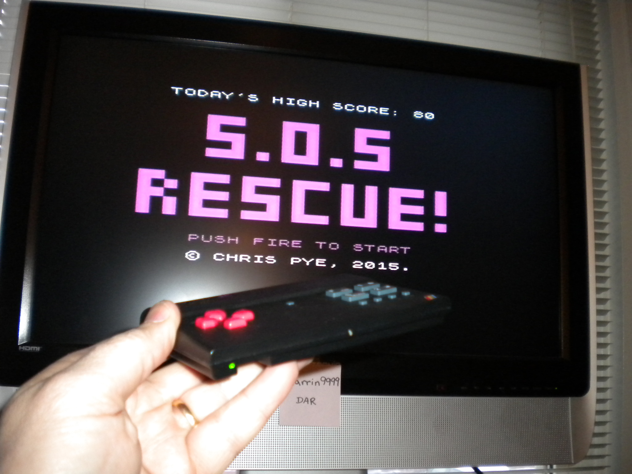 darrin9999: S.O.S Rescue! [Chris Pye] (ZX Spectrum Emulated) 80 points on 2016-12-19 22:35:33