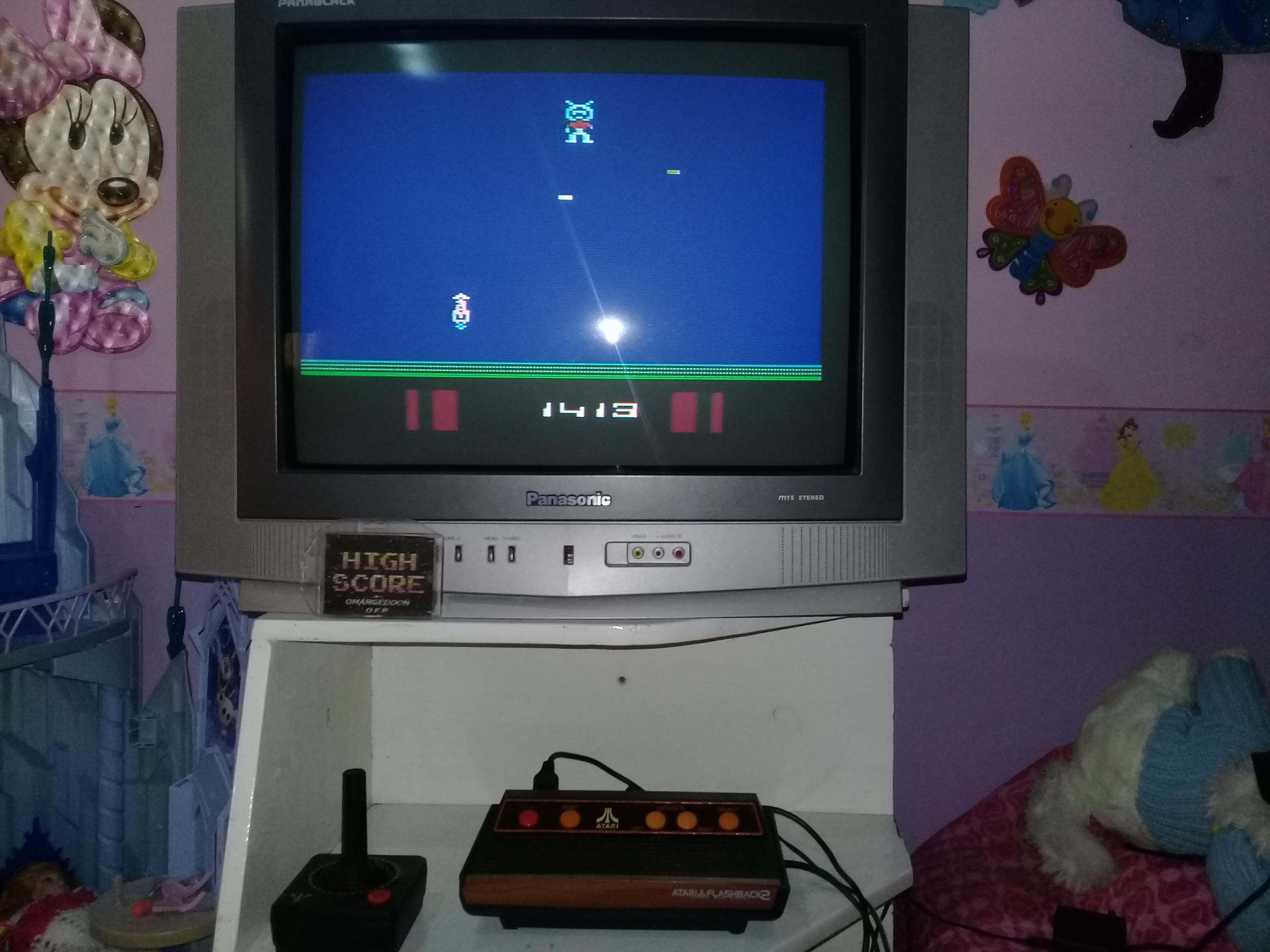omargeddon: Saboteur (Atari 2600 Emulated Novice/B Mode) 1,413 points on 2019-05-06 17:56:56