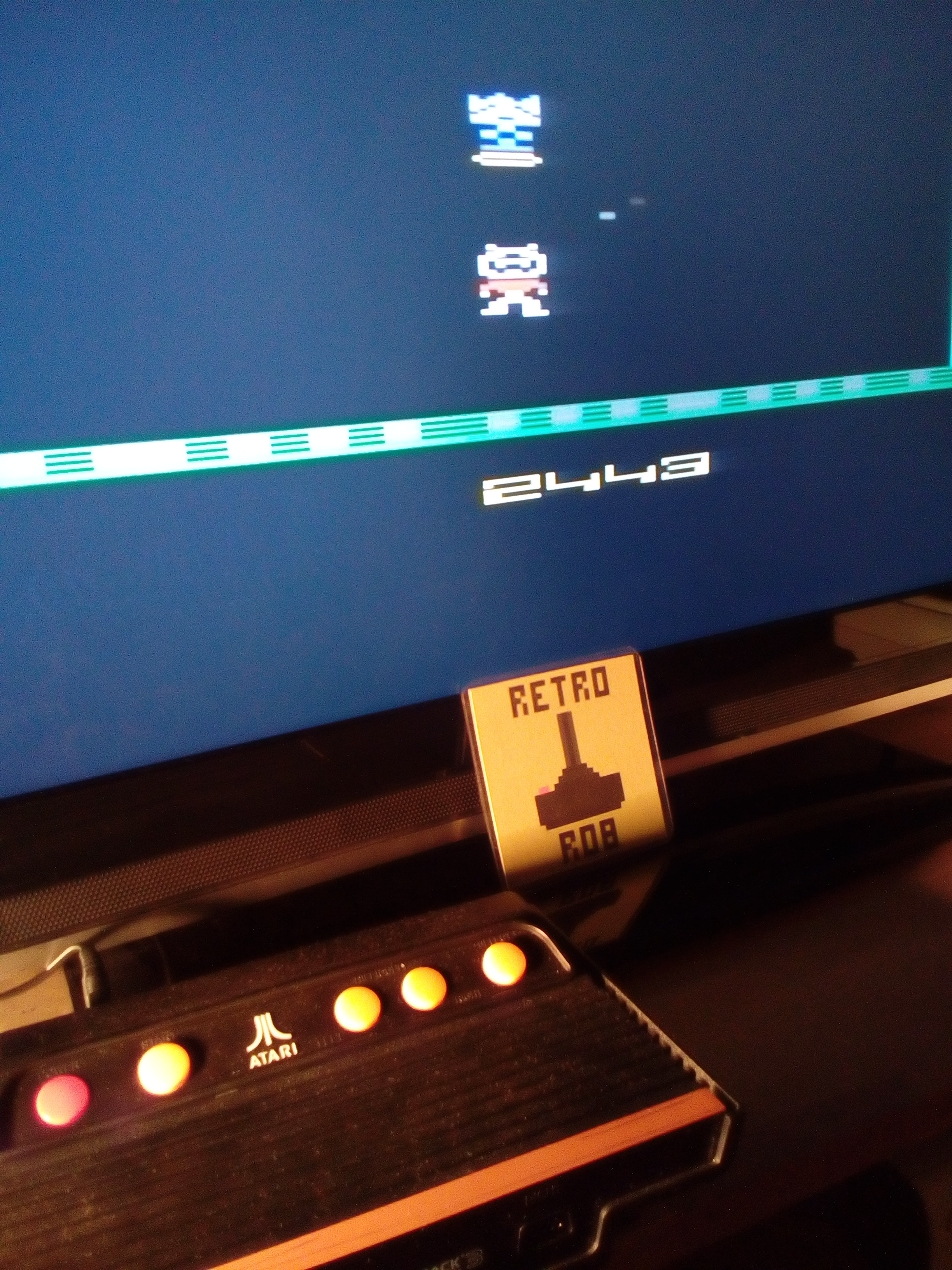 RetroRob: Saboteur (Atari 2600 Emulated Novice/B Mode) 2,443 points on 2019-07-06 02:28:22
