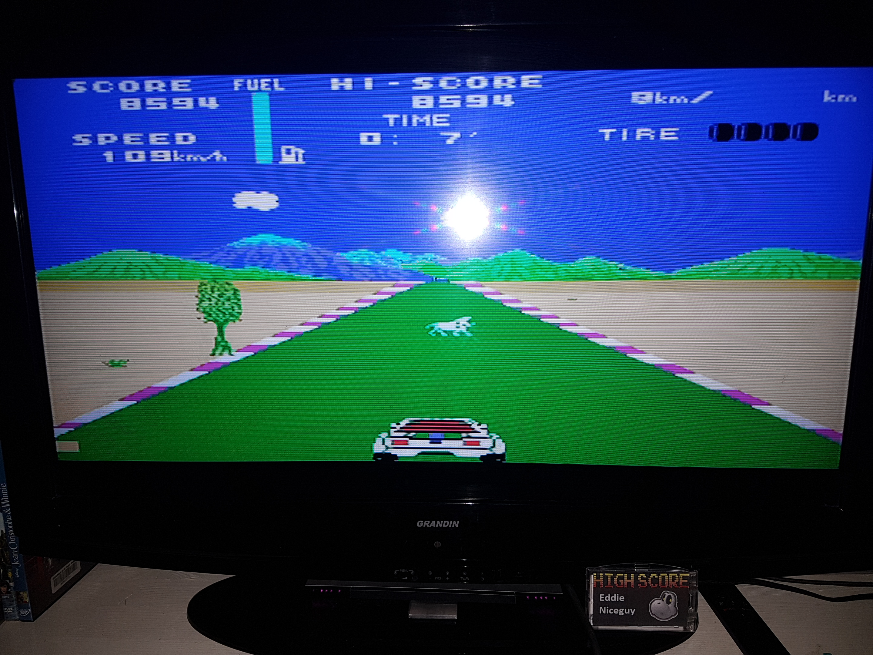 EddieNiceguy: Safari Race (Sega SG-1000 Emulated) 8,594 points on 2019-04-26 16:49:25