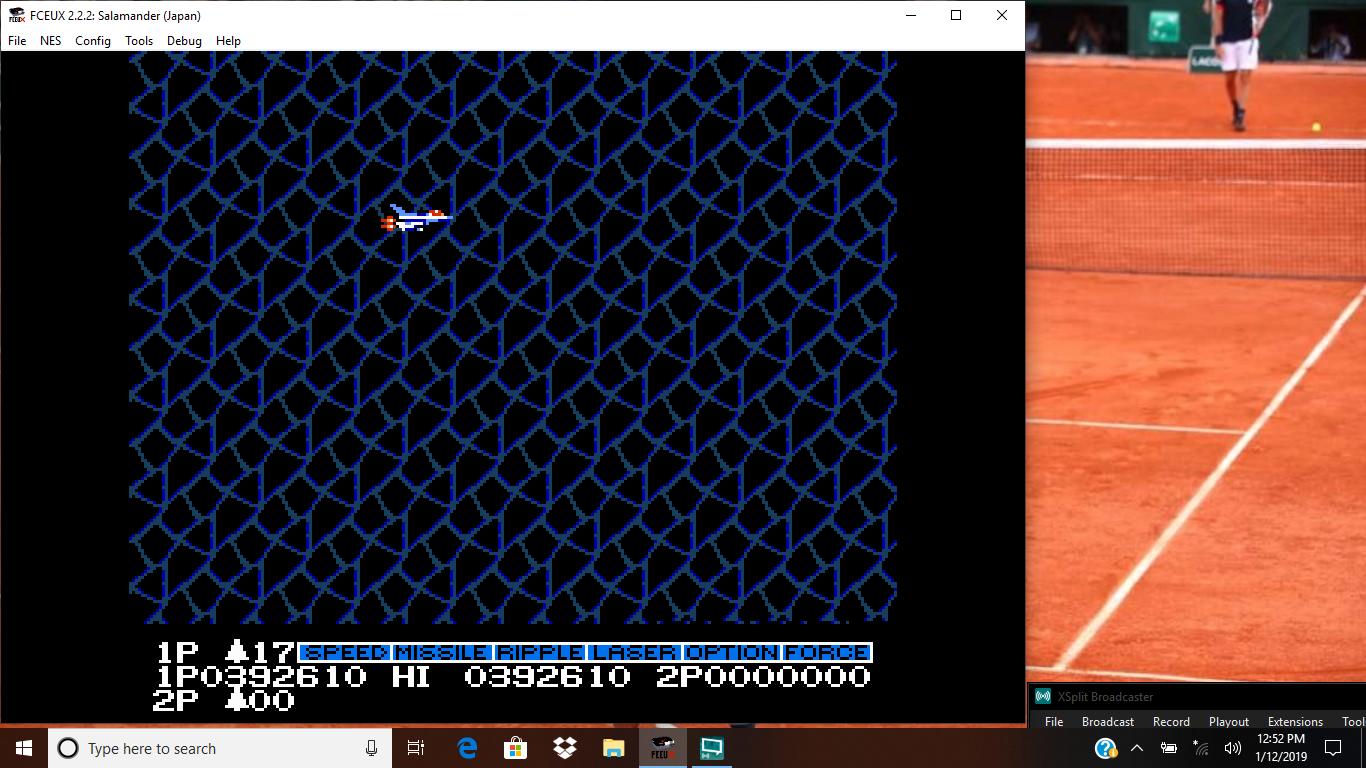 bubufubu: Salamander (NES/Famicom Emulated) 392,610 points on 2019-01-12 17:07:16