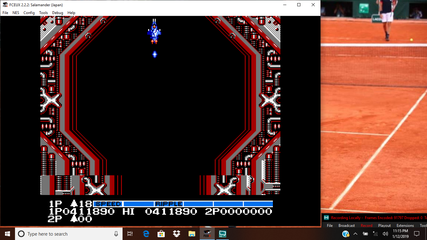bubufubu: Salamander (NES/Famicom Emulated) 411,890 points on 2019-04-14 23:38:25