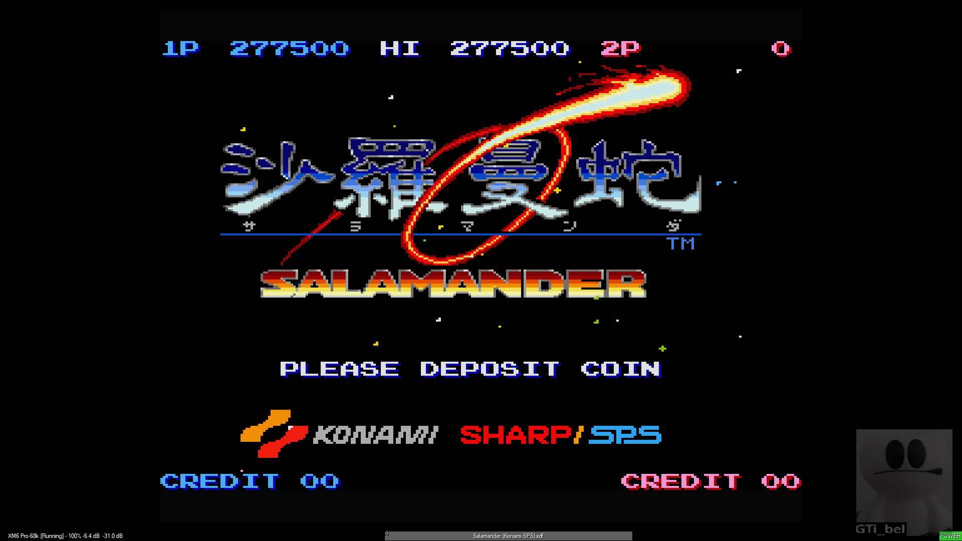 GTibel: Salamander (Sharp X68000 Emulated) 277,500 points on 2020-01-23 10:40:52