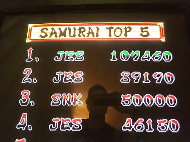 Samurai Shodown 107,460 points