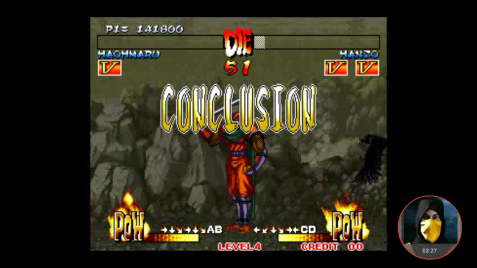 omargeddon: Samurai Shodown III / Samurai Spirits [samsho3] (Arcade Emulated / M.A.M.E.) 141,800 points on 2018-05-11 11:18:33