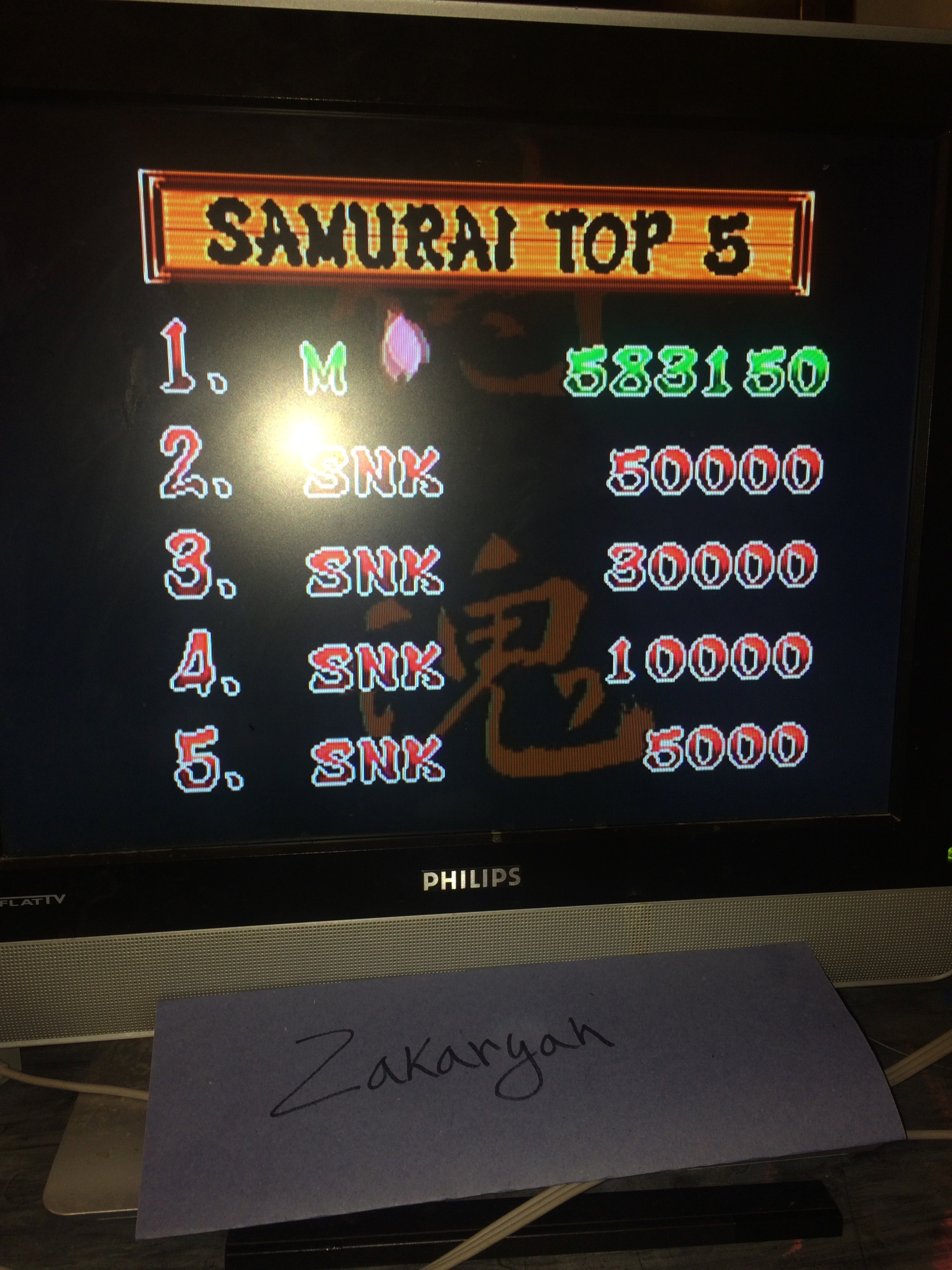 Zakaryah: Samurai Shodown (Wii Virtual Console: Neo Geo) 583,150 points on 2017-02-19 03:09:02