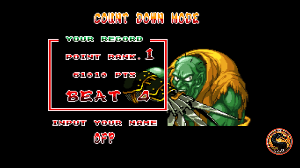 omargeddon: Samurai Showdown [Count Down Mode: Wins] (SNES/Super Famicom Emulated) 4 points on 2019-04-02 01:59:21