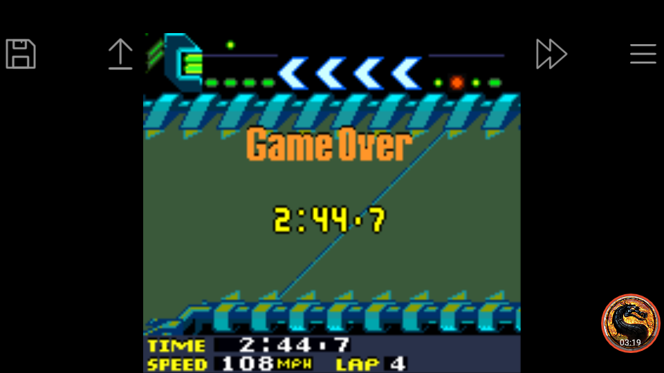 omargeddon: San Francisco Rush 2049: Time Trial [Track 4] (Game Boy Color Emulated) 0:02:44.7 points on 2019-03-31 17:33:26