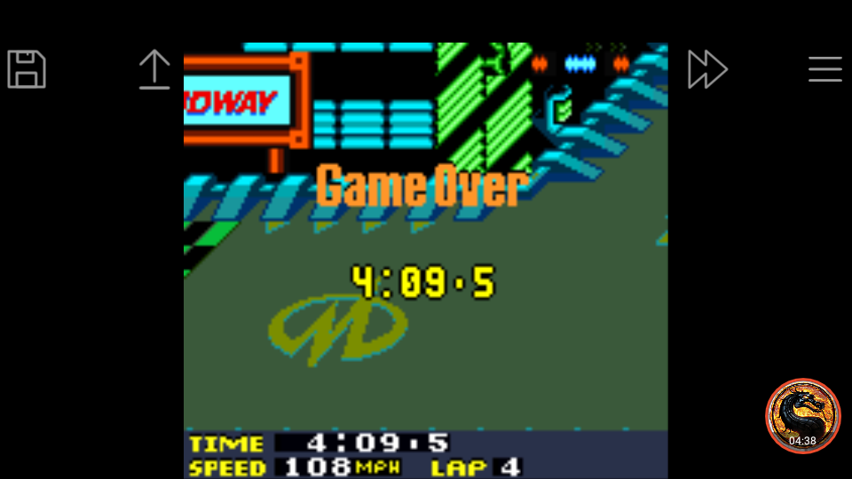 omargeddon: San Francisco Rush 2049: Time Trial [Track 6] (Game Boy Color Emulated) 0:04:09.5 points on 2019-03-31 17:35:00