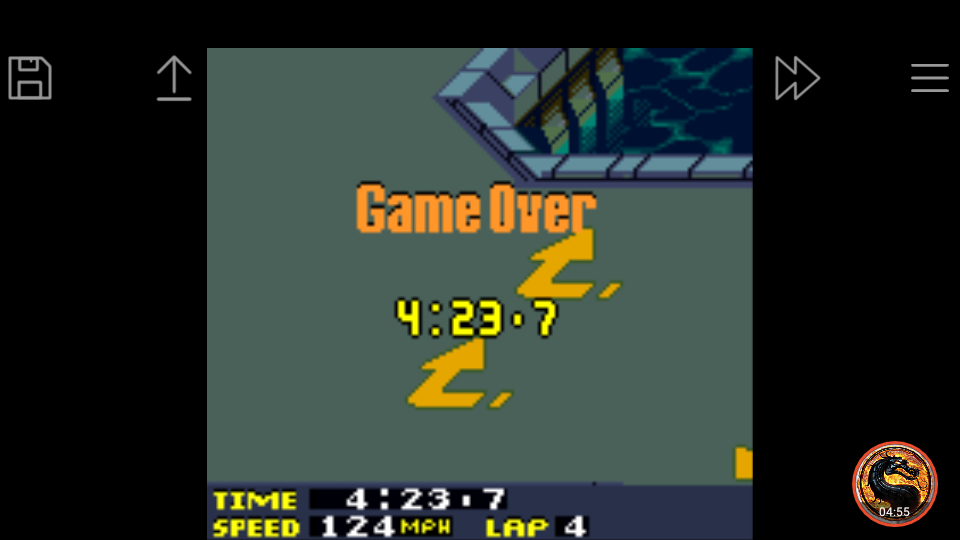 omargeddon: San Francisco Rush 2049: Time Trial [Track 9] (Game Boy Color Emulated) 0:04:23.7 points on 2019-03-31 17:37:08
