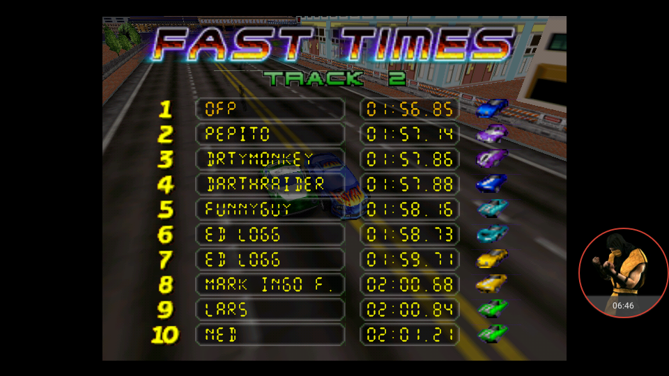 omargeddon: San Francisco Rush: Extreme Racing [Track 2] (N64 Emulated) 0:01:56.85 points on 2017-11-28 20:46:38