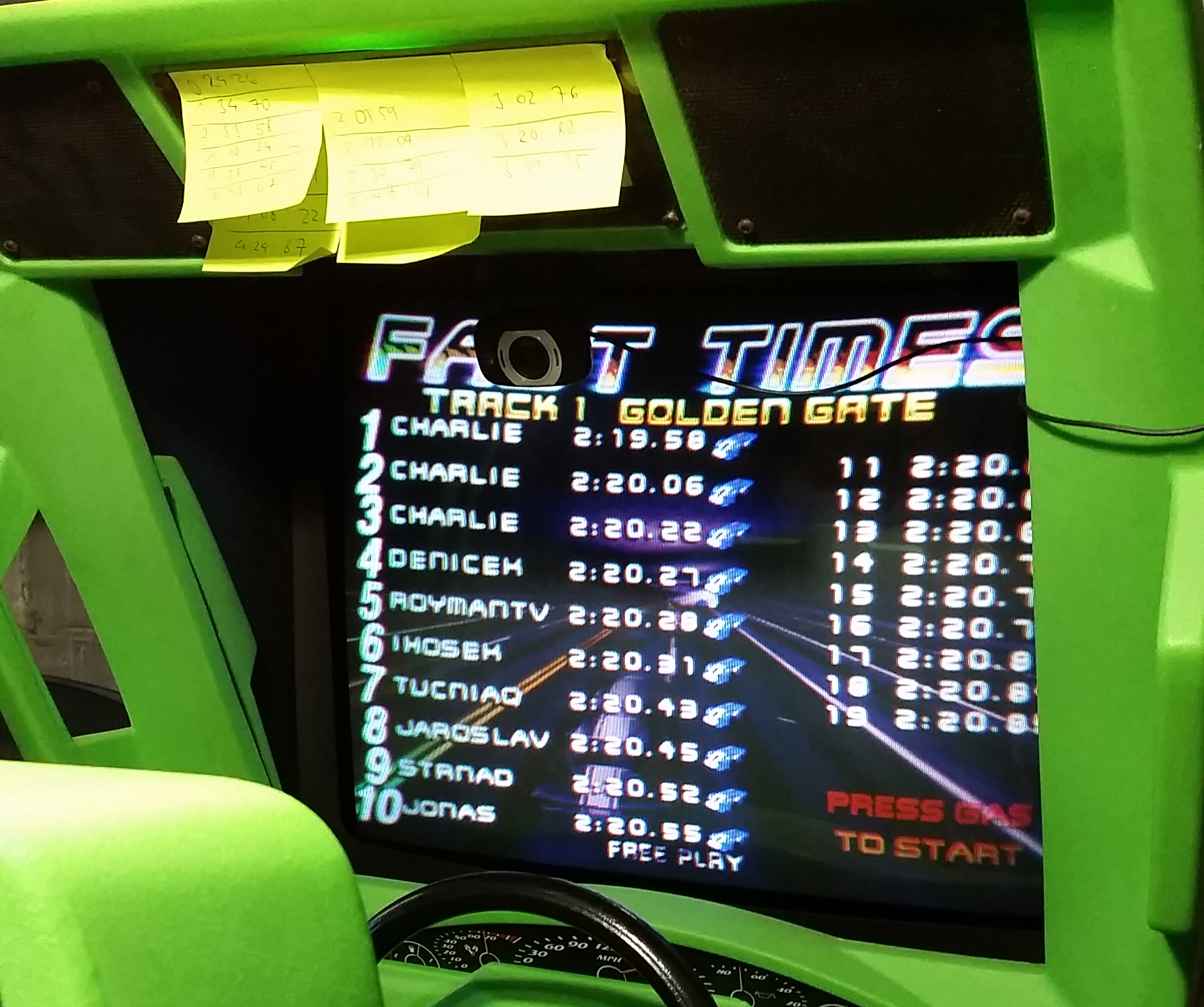San Francisco Rush: The Rock [Track 1] time of 0:02:19.58