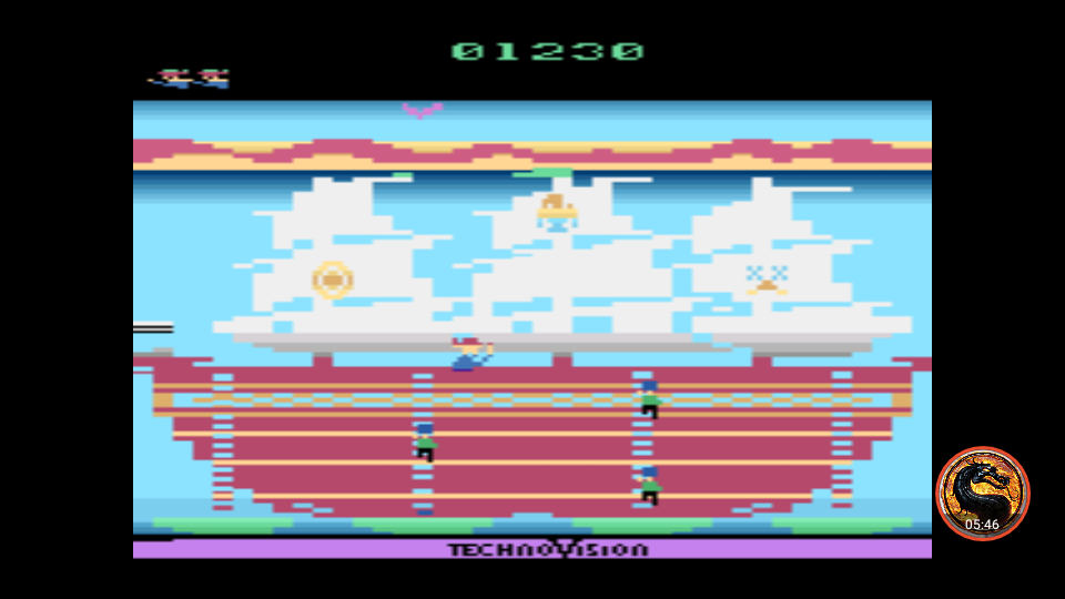omargeddon: Save Our Ship: Game 1 (Atari 2600 Emulated Novice/B Mode) 1,230 points on 2019-06-05 08:55:50