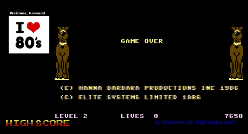 Giorvam: Scooby Doo (Commodore 16/Plus4 Emulated) 7,650 points on 2016-11-23 12:06:15