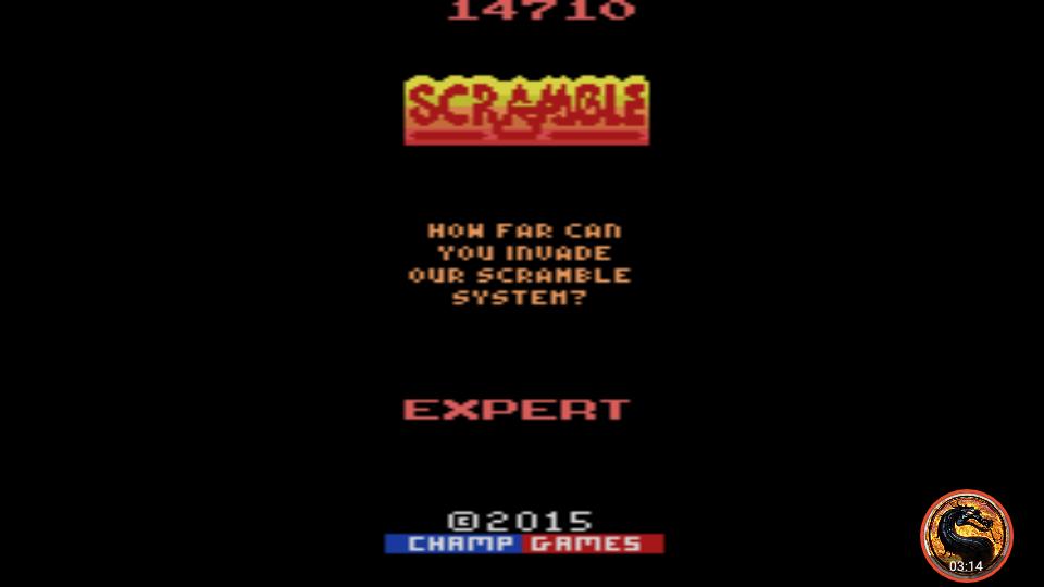 omargeddon: Scramble [Expert] (Atari 2600 Emulated) 14,710 points on 2019-04-02 02:37:02