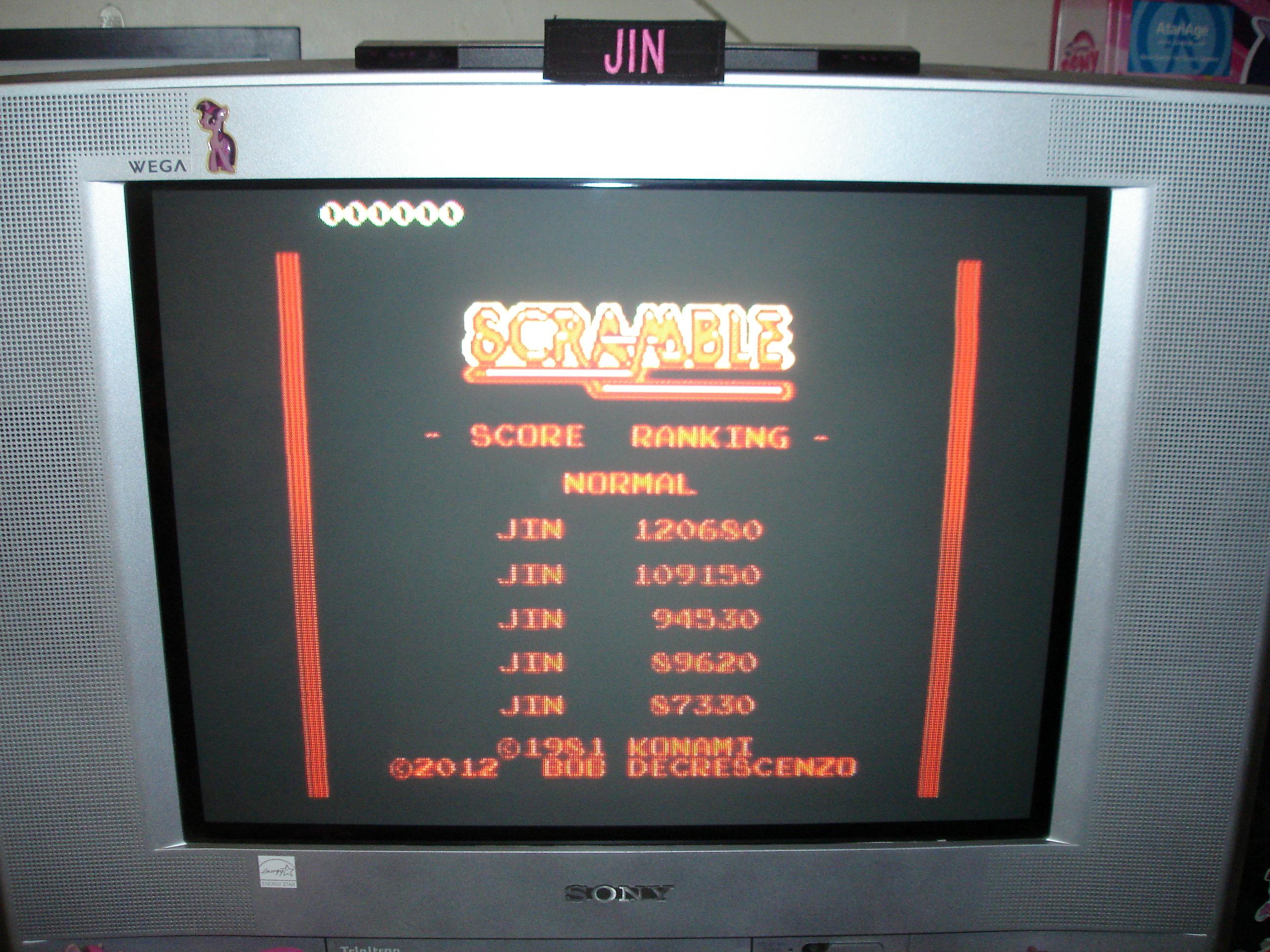 Jin: Scramble: Normal (Atari 7800 Emulated) 120,680 points on 2016-12-12 21:56:34