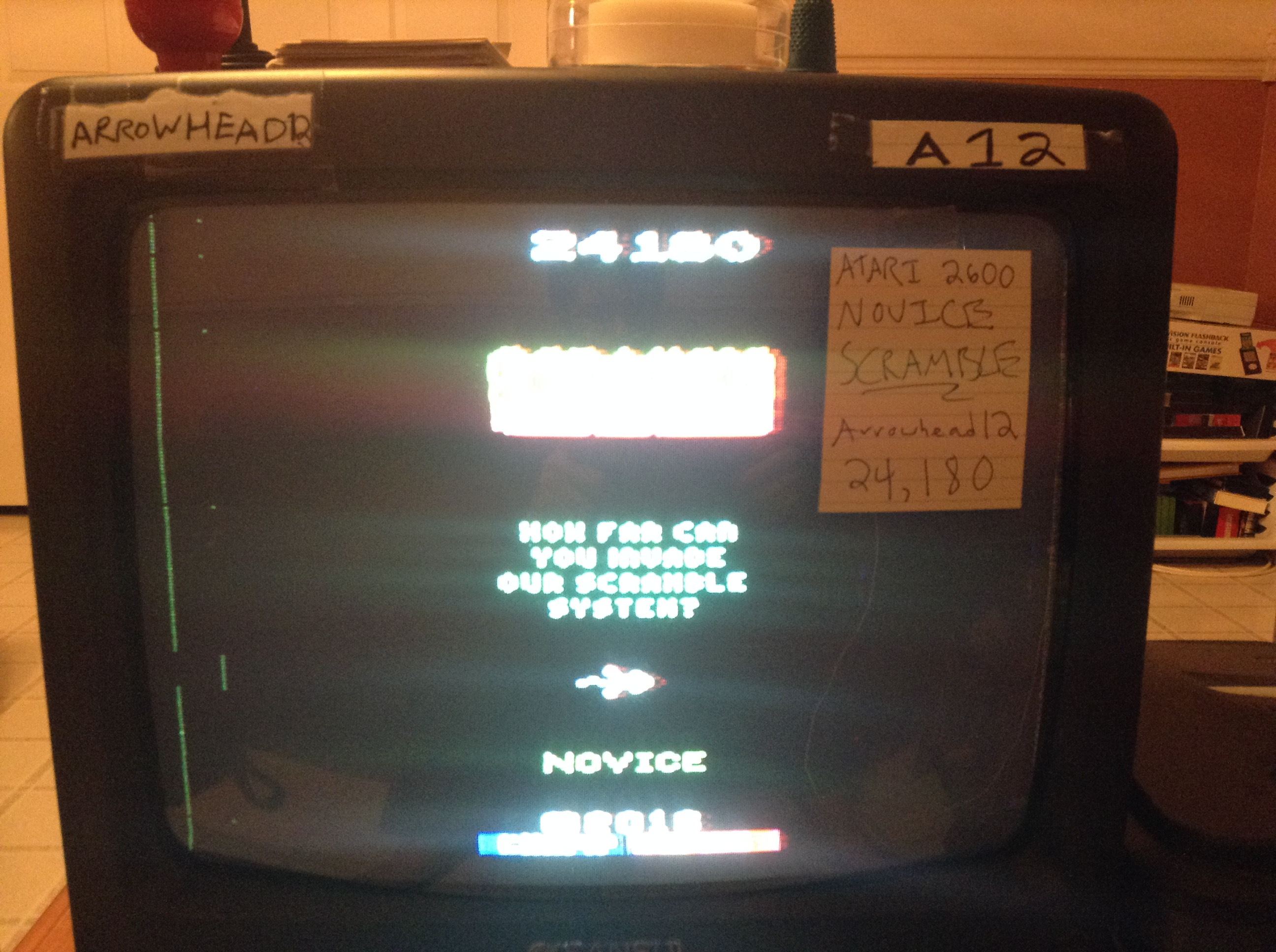 Arrowhead12: Scramble [Novice] (Atari 2600) 24,180 points on 2019-01-01 00:40:26