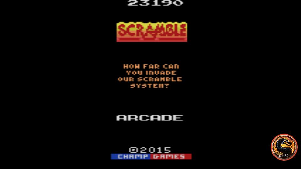 omargeddon: Scramble [Standard] (Atari 2600 Emulated) 23,190 points on 2019-04-02 02:36:20