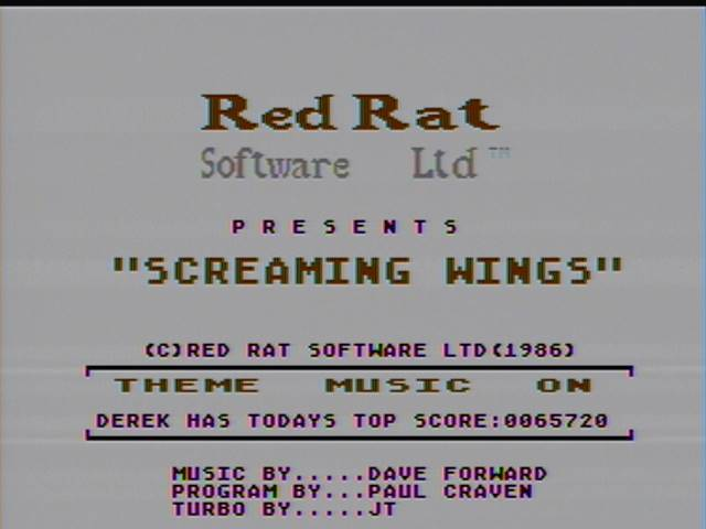 derek: Screaming Wings (Atari 400/800/XL/XE) 65,720 points on 2016-03-02 20:02:35