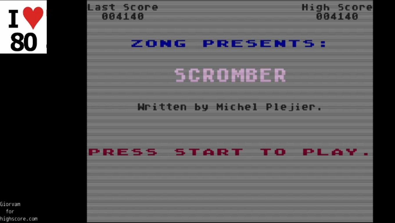 Giorvam: Scromber (Atari 400/800/XL/XE Emulated) 4,140 points on 2019-12-16 14:16:13