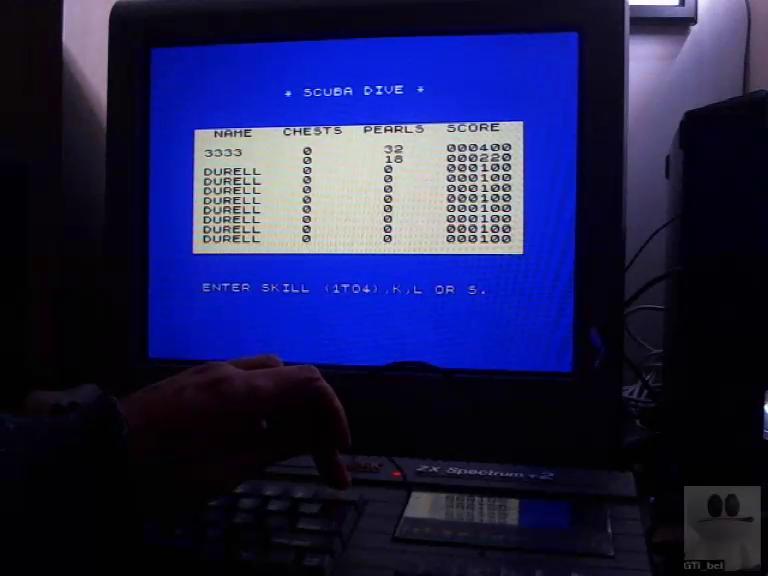 GTibel: Scuba Dive [Skill 1] (ZX Spectrum) 400 points on 2017-11-17 10:18:06